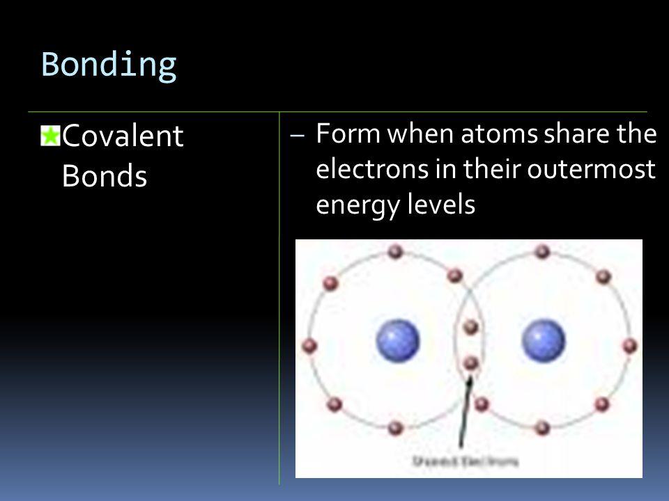 Bonding Covalent Bonds