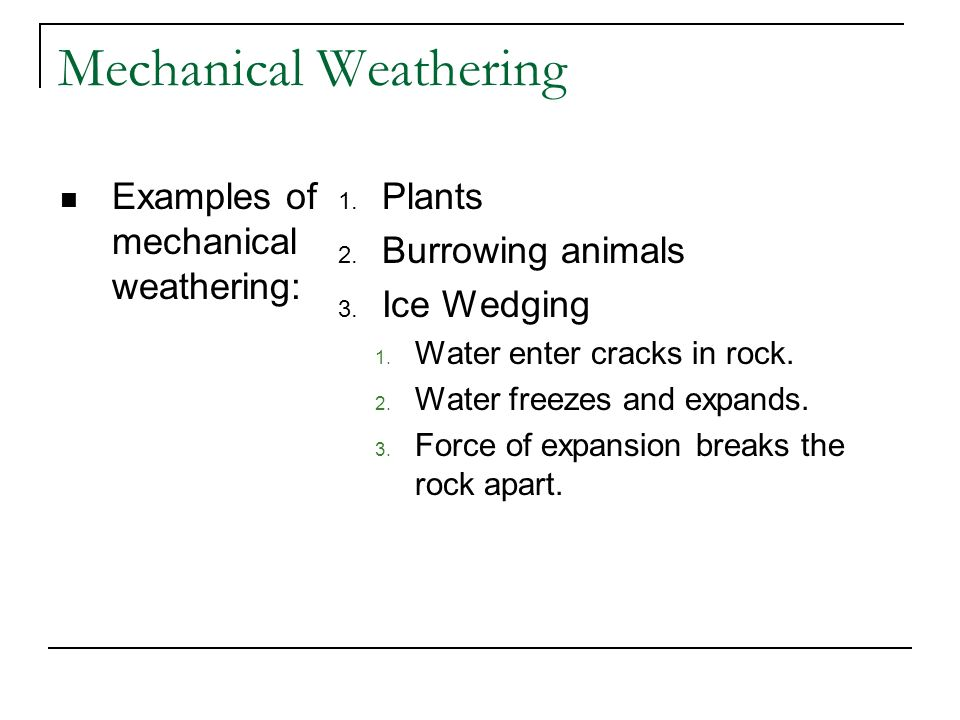 Mechanical Weathering