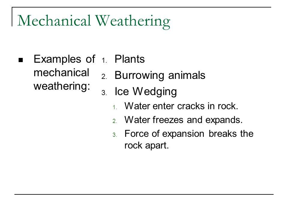 Mechanical Weathering