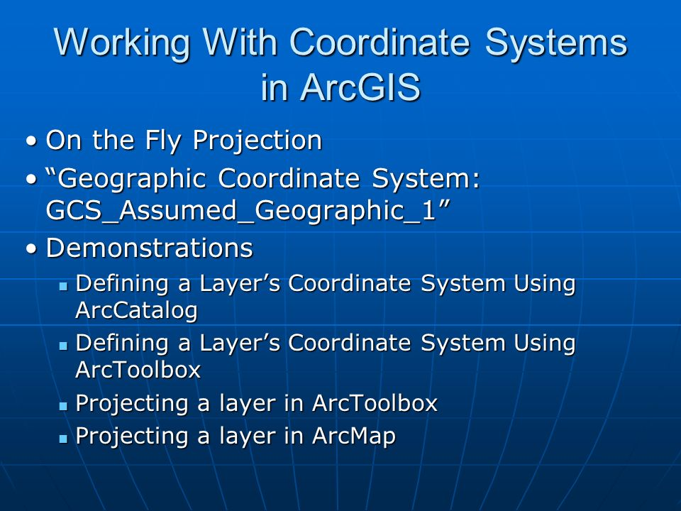 Amanda Henley GIS Librarian Davis Library Reference September Ppt - Univerasl us coodirnate system arc map