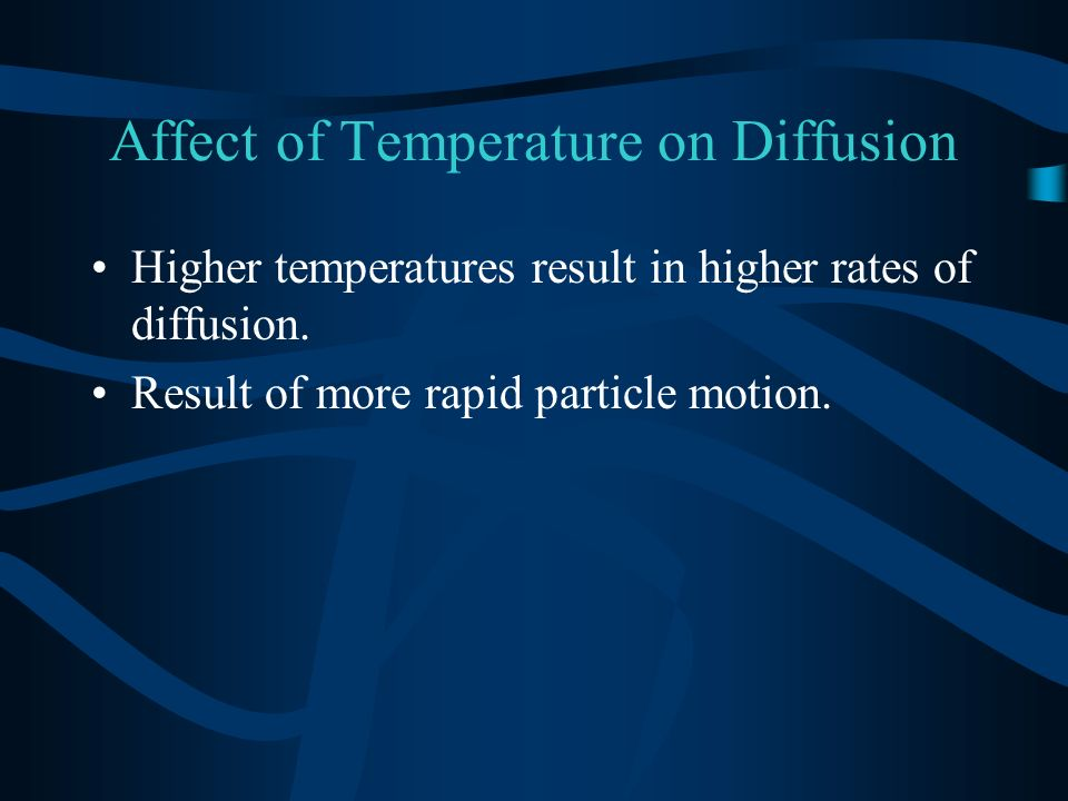 Affect of Temperature on Diffusion