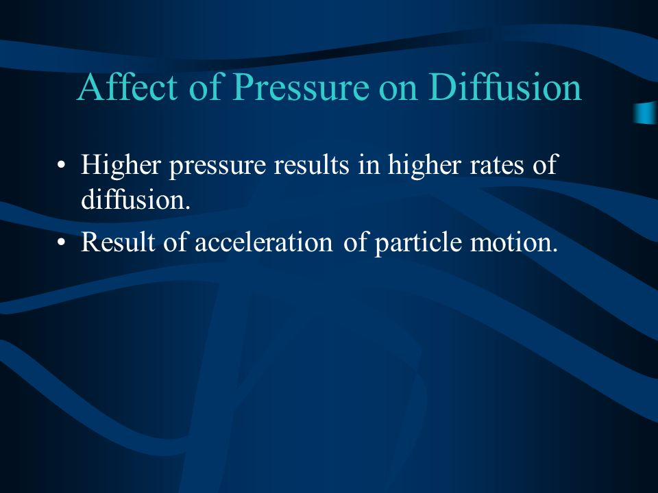 Affect of Pressure on Diffusion