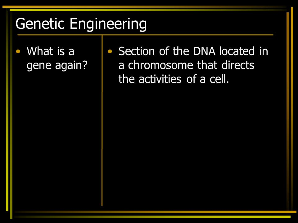 Genetic Engineering What is a gene again