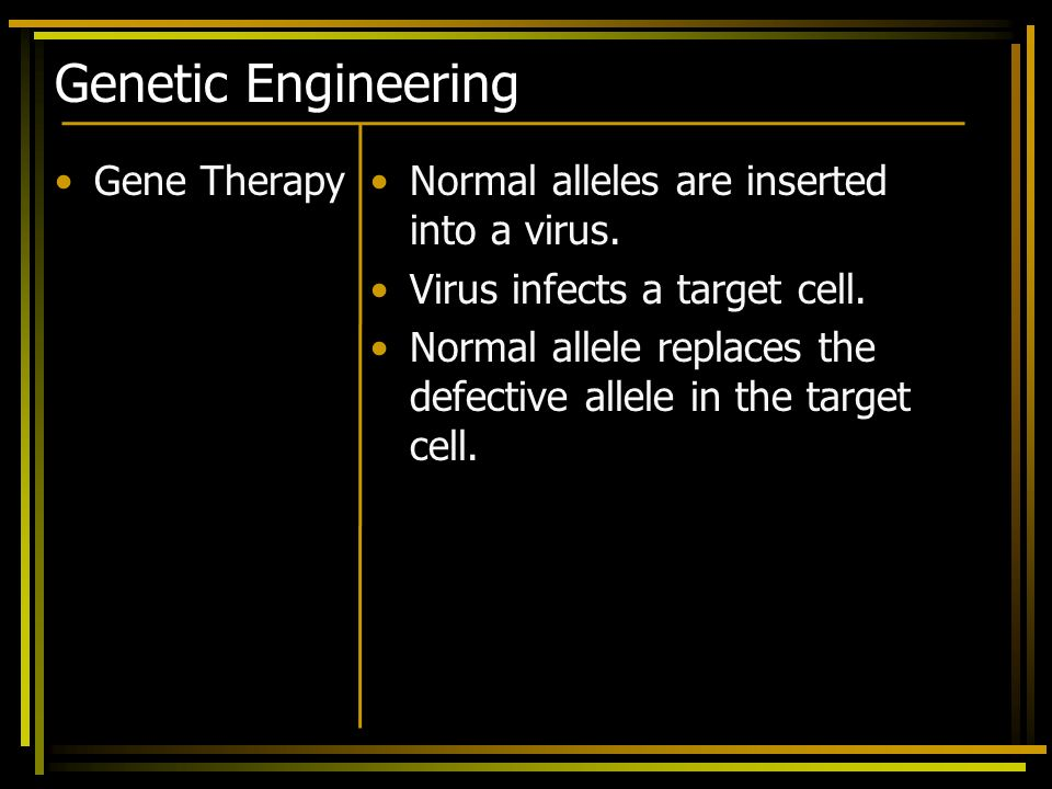 Genetic Engineering Gene Therapy