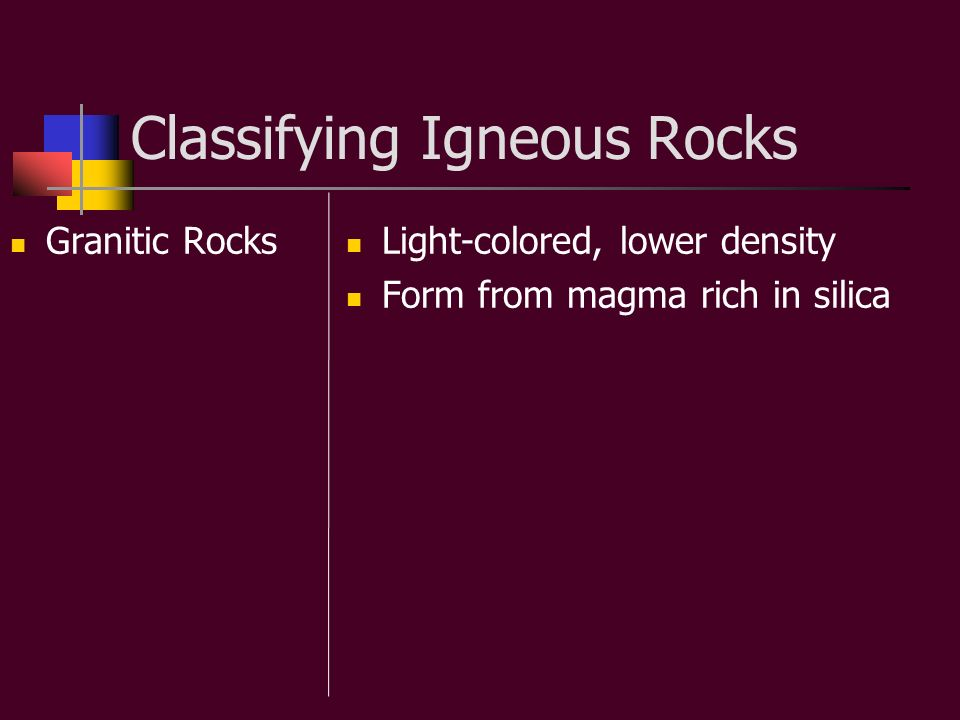 Classifying Igneous Rocks