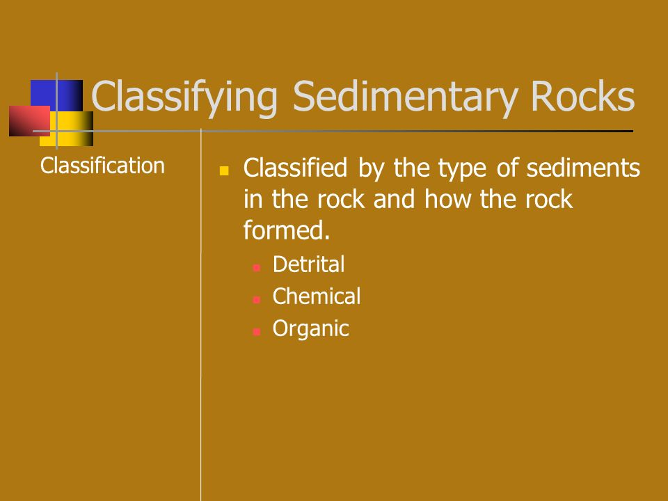 Classifying Sedimentary Rocks