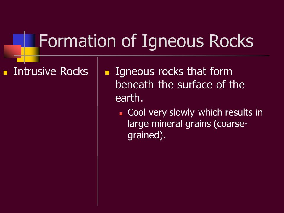 Formation of Igneous Rocks