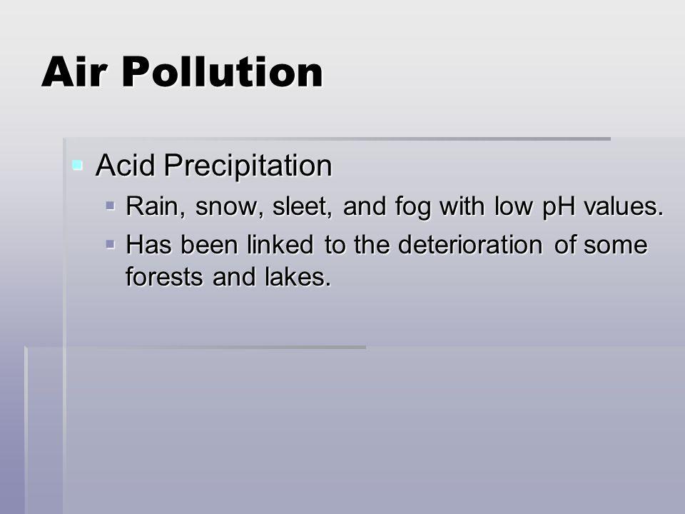 Air Pollution Acid Precipitation