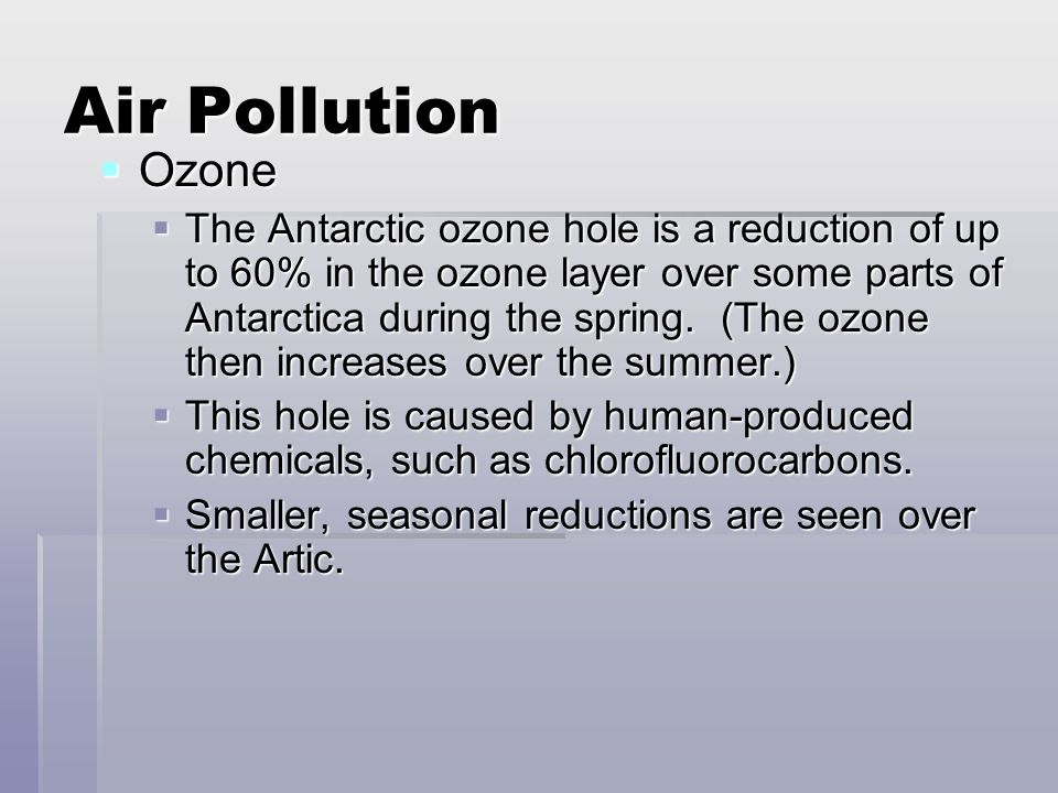 Air Pollution Ozone.