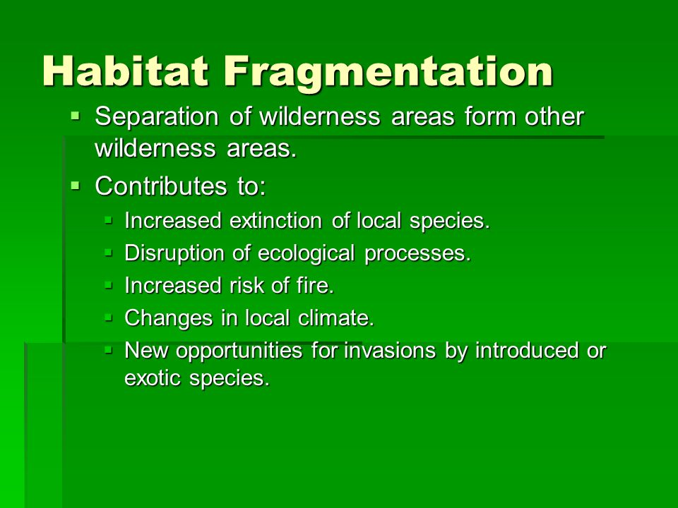 Habitat Fragmentation