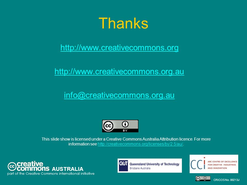 Thanks http://www.creativecommons.org