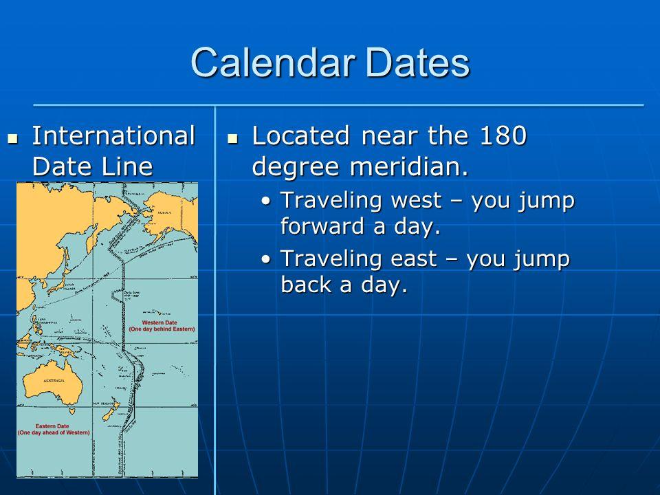 Calendar Dates International Date Line