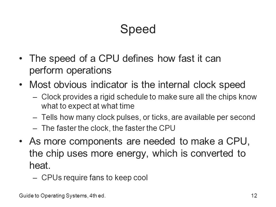 Define cpu user manuals dell inspiron 3000 small array guide to operating systems 4th ed ppt video online download rh slideplayer com speed the speed of a fandeluxe Image collections