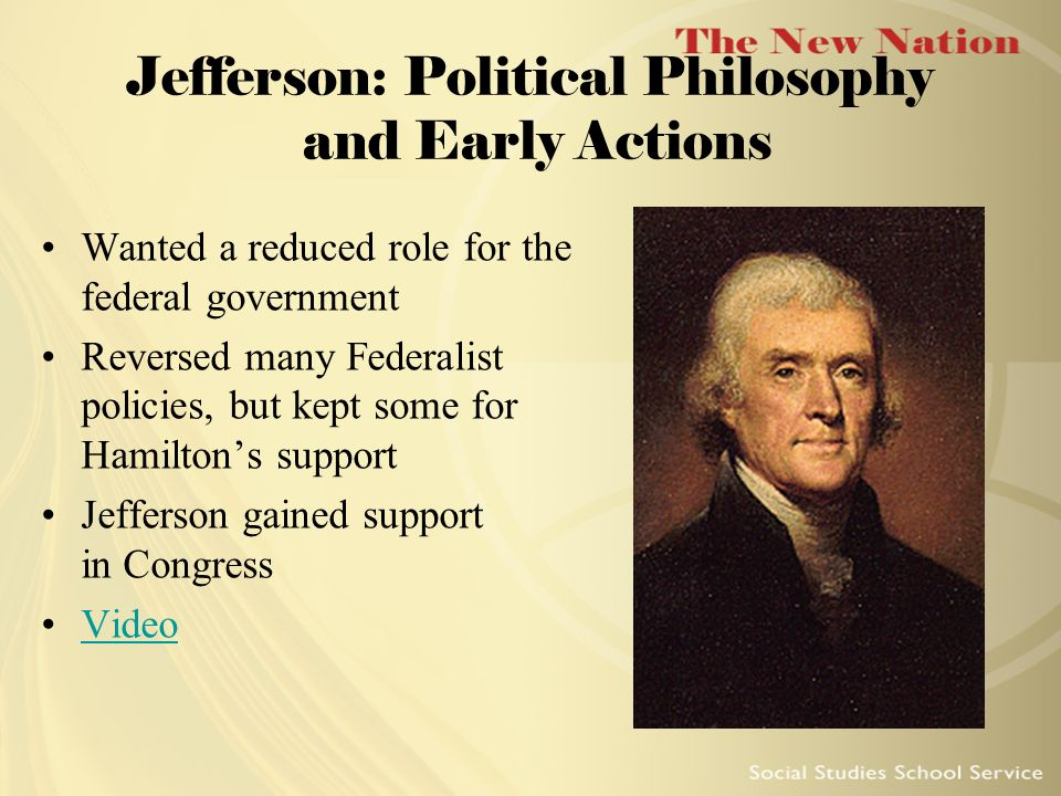 Jefferson: Political Philosophy and Early Actions