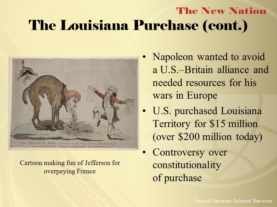 The Louisiana Purchase (cont.)