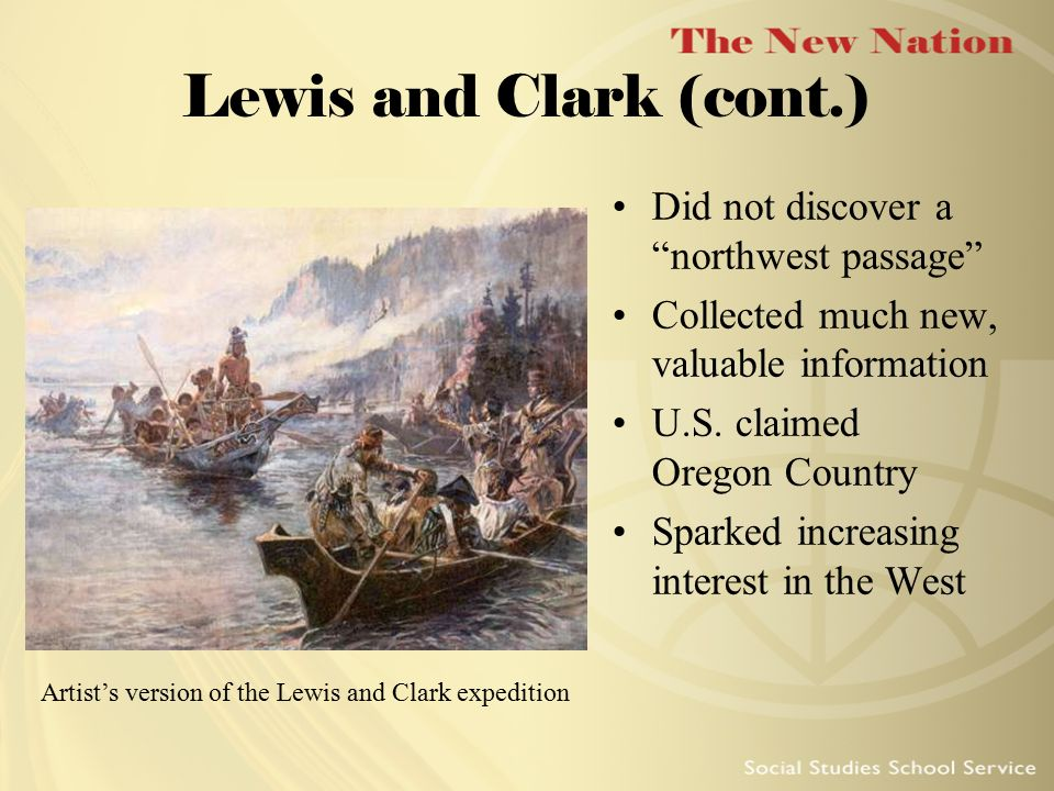 Artist's version of the Lewis and Clark expedition