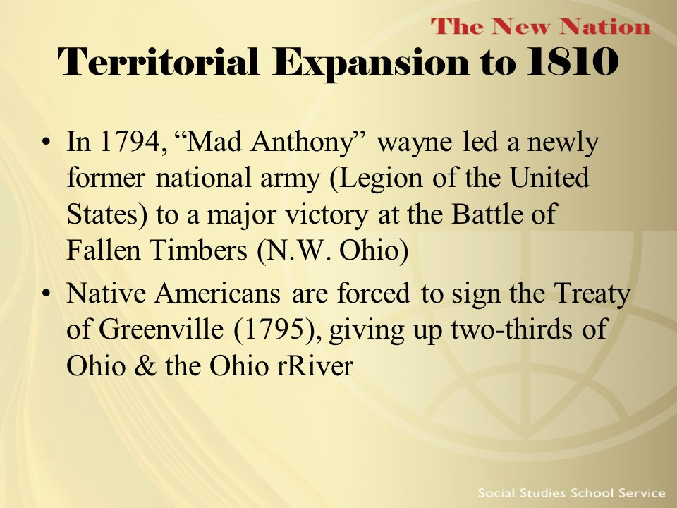 Territorial Expansion to 1810