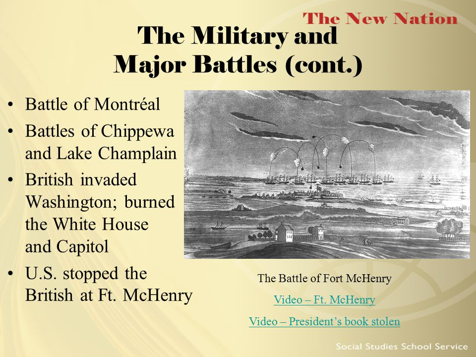 The Military and Major Battles (cont.)