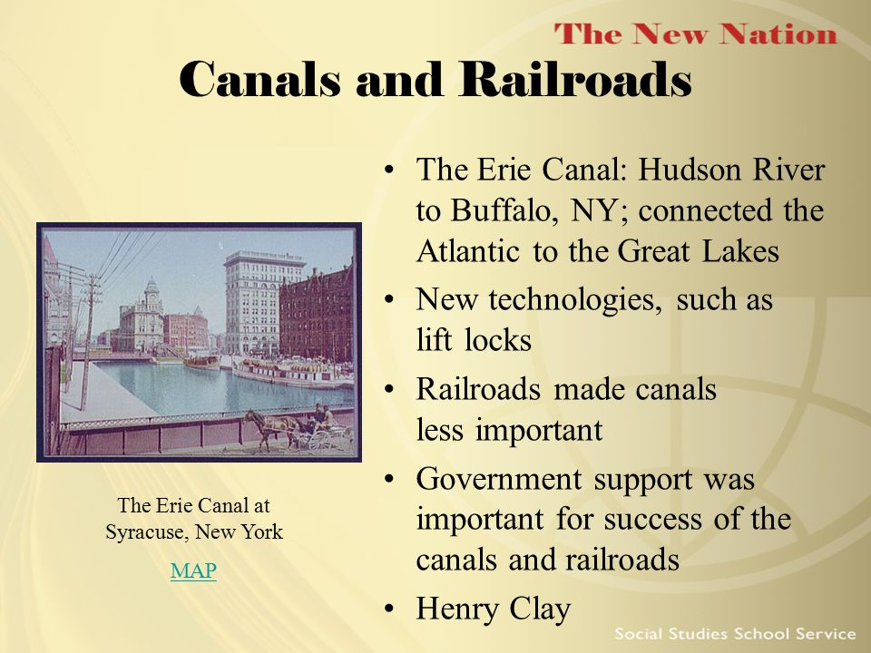 The Erie Canal at Syracuse, New York