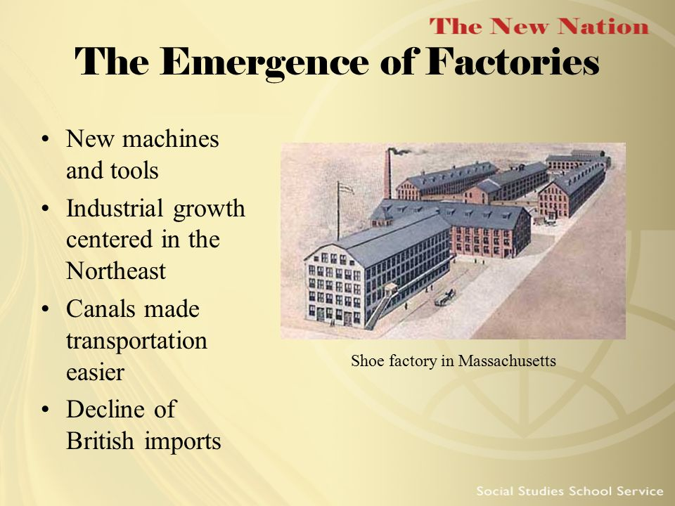 The Emergence of Factories