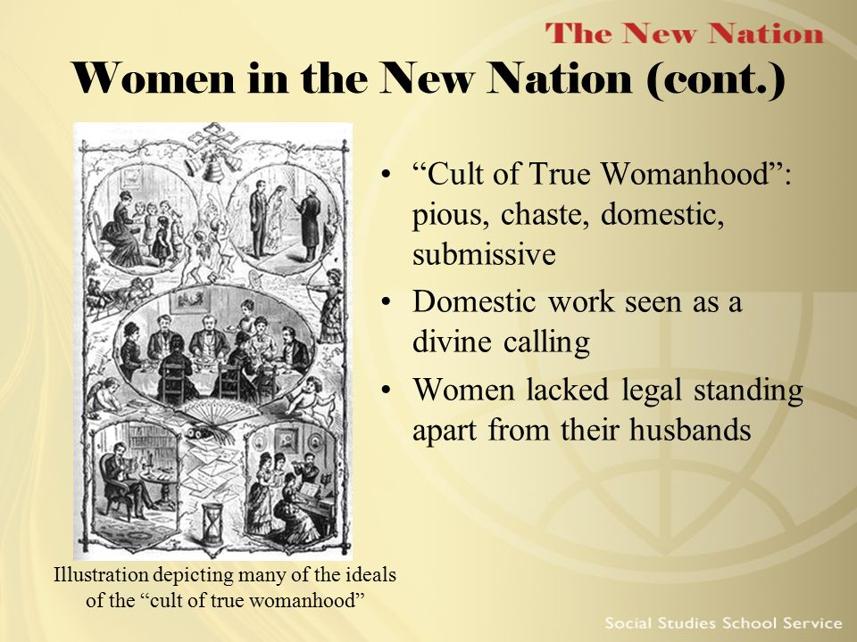 Women in the New Nation (cont.)