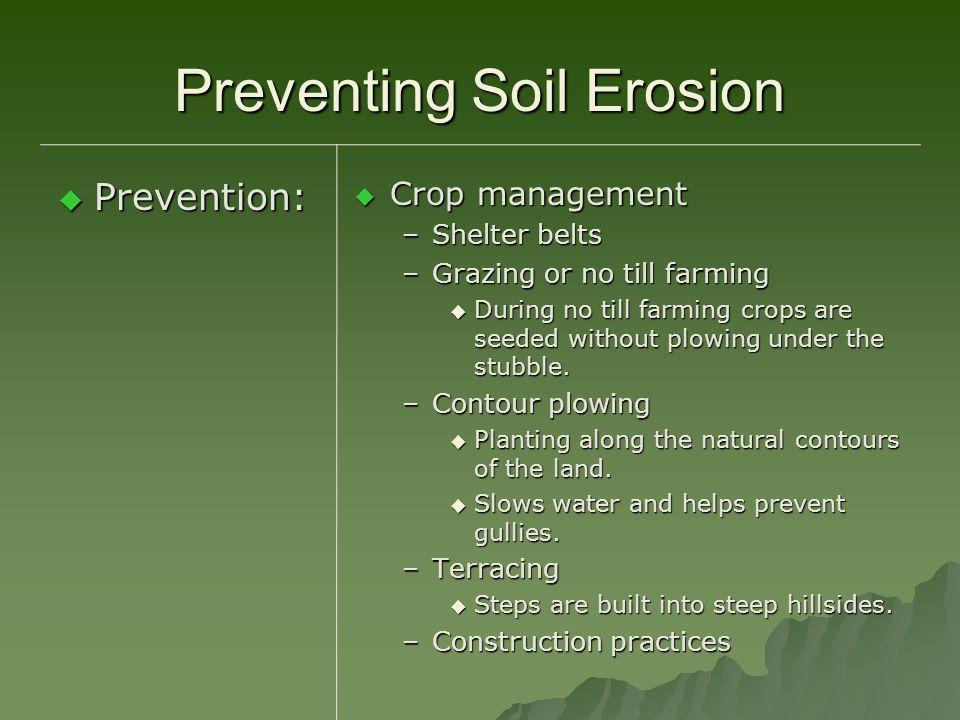 Preventing Soil Erosion