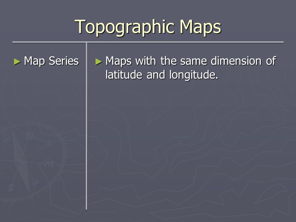 Topographic Maps Map Series