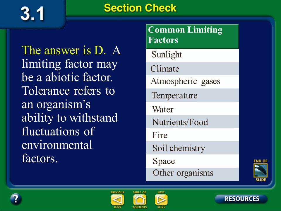 Common Limiting Factors
