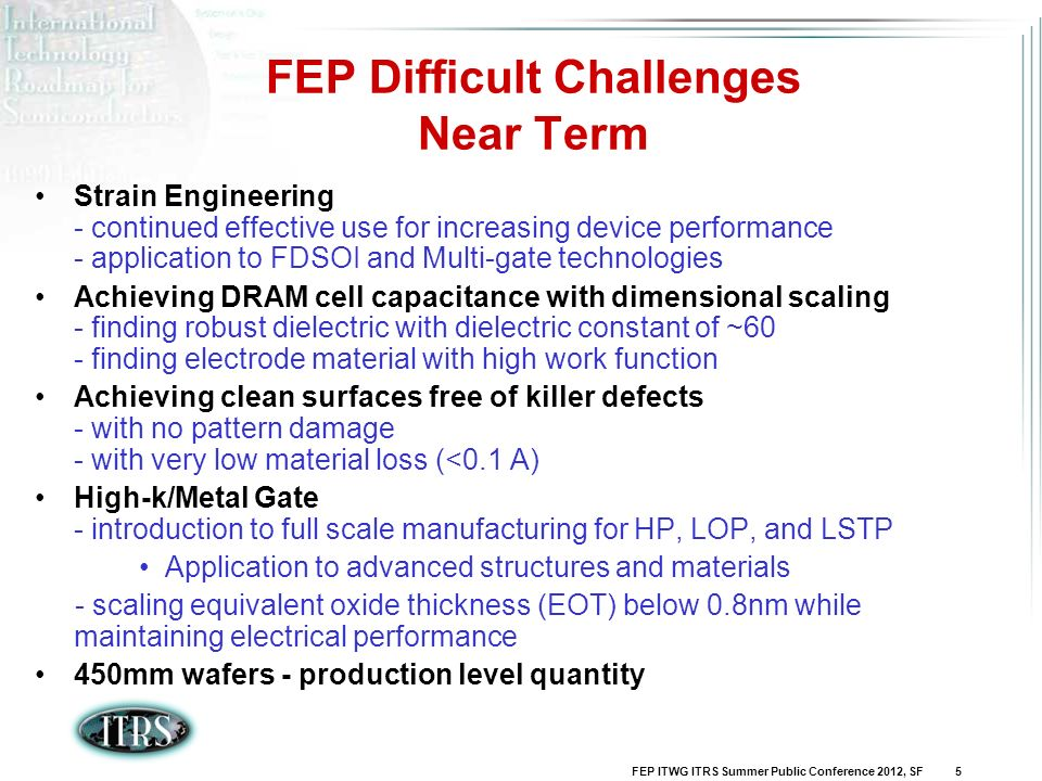 FEP Difficult Challenges Near Term