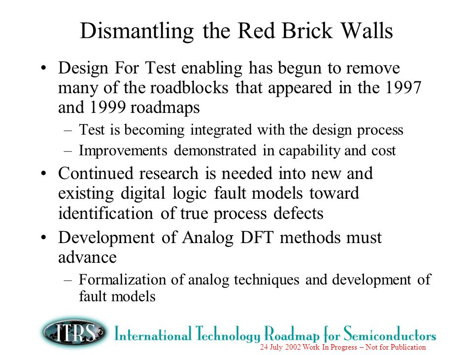 Dismantling the Red Brick Walls