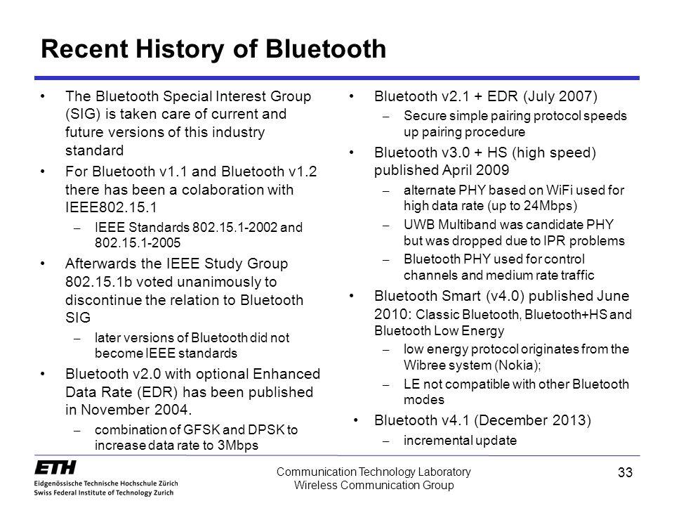 history of bluetooth technology pdf