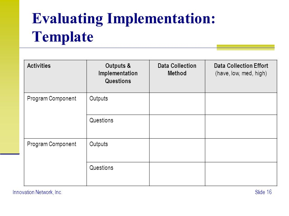 The Evaluation Plan. - Ppt Video Online Download