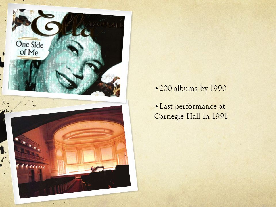 200 albums by 1990 Last performance at Carnegie Hall in 1991