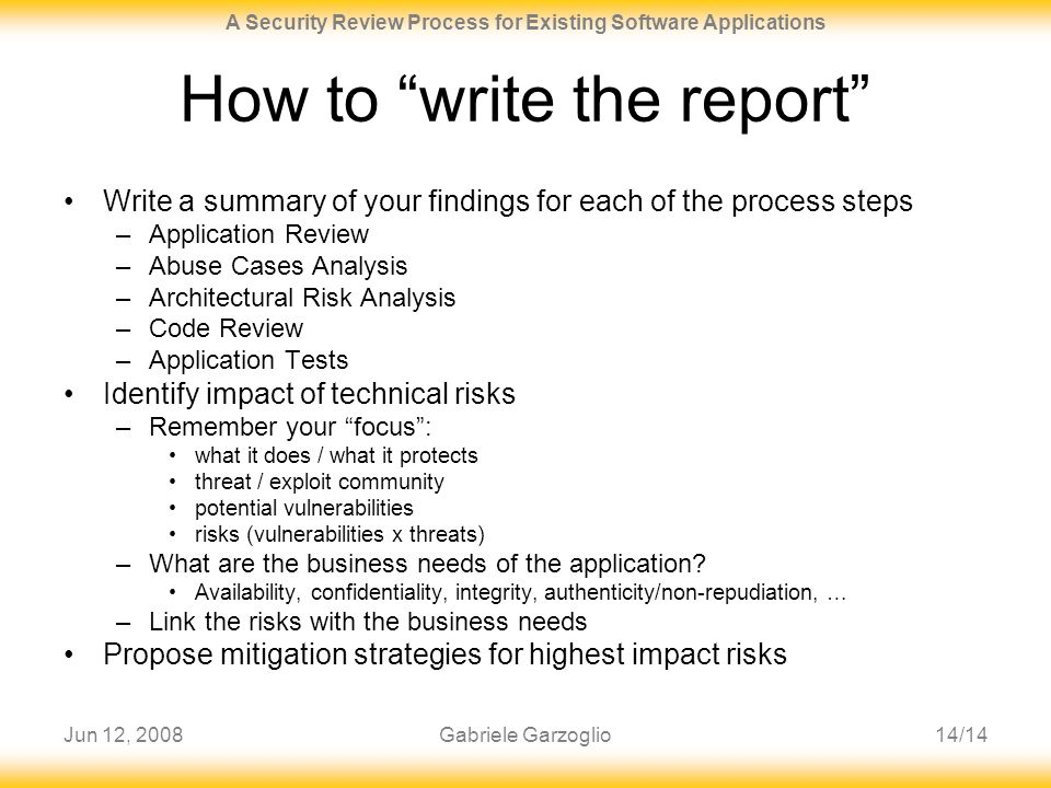 How to write a business review report