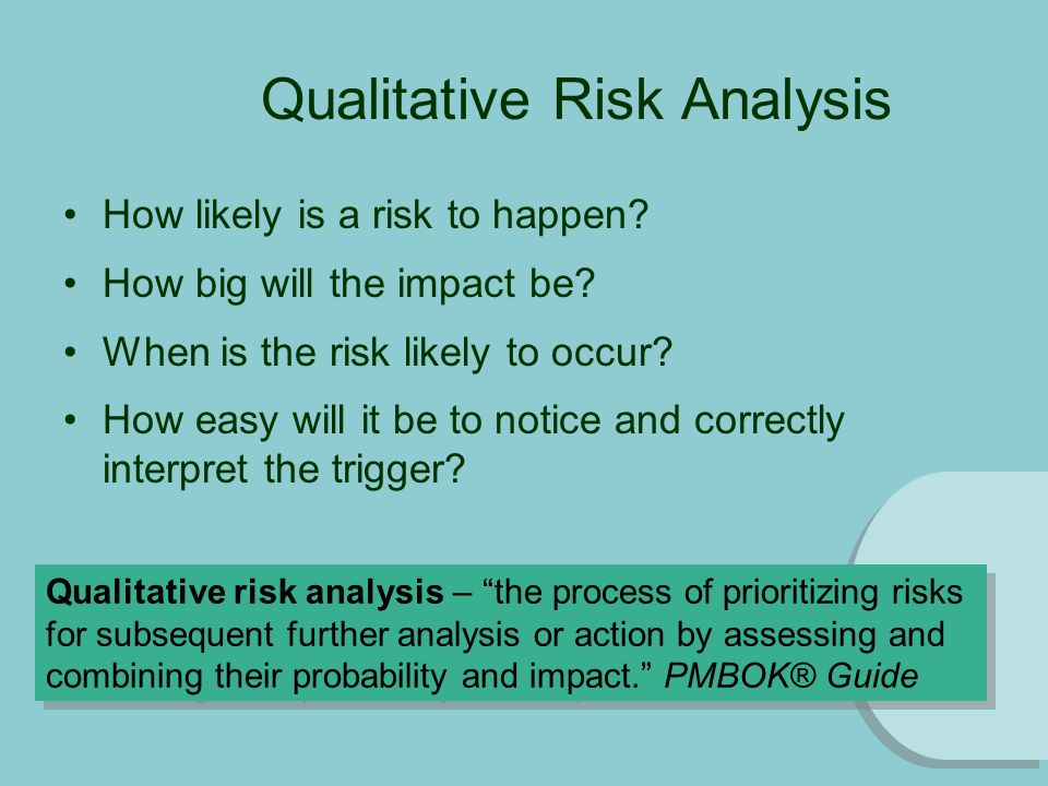 quantitative and qualitative risk analysis pdf