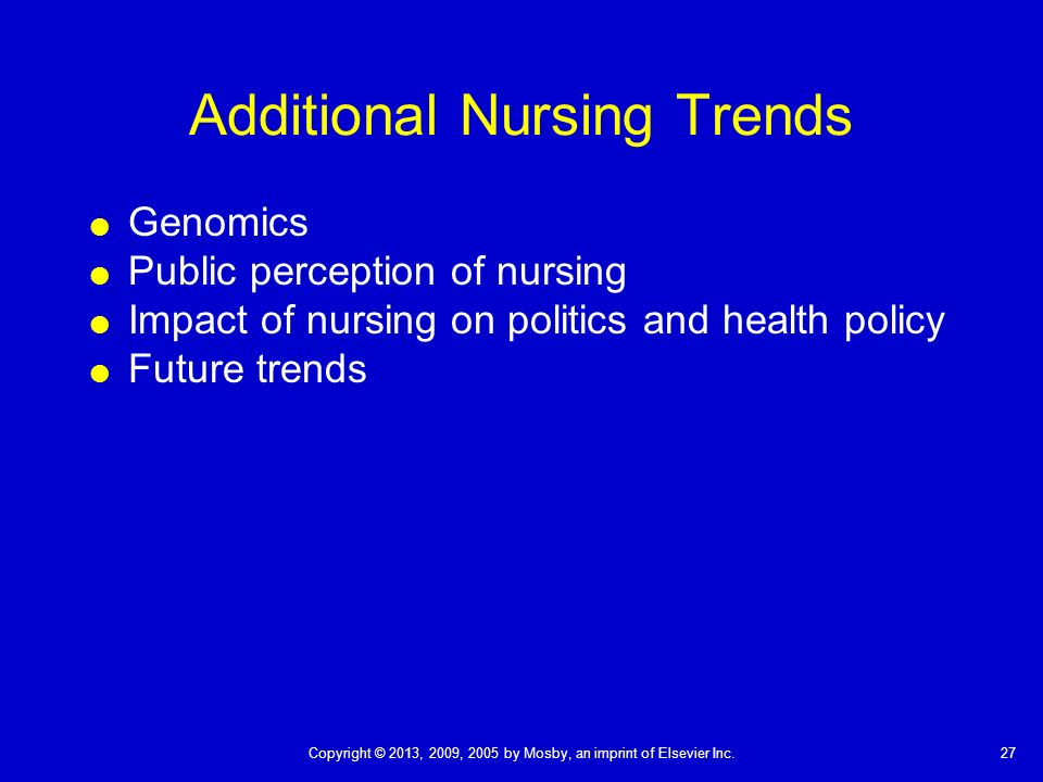 future of professional nursing development impact Vision for the future of nursing editorial arlene j lowenstein, phd, rn and challenges for the development of new nursing roles nursing input and political power can impact that.