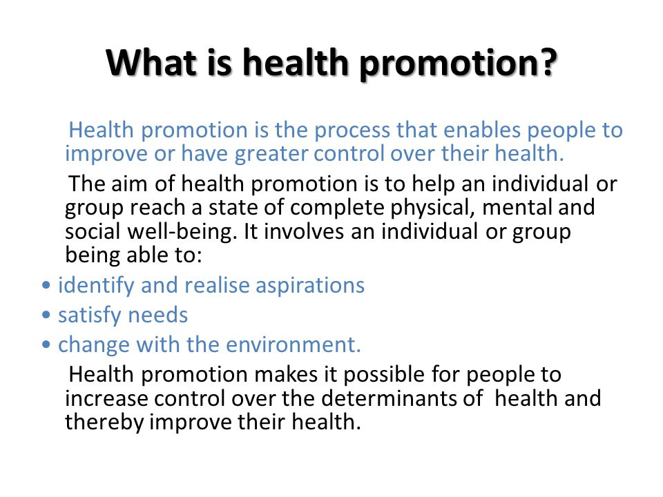 Strategies for promoting Health - ppt download