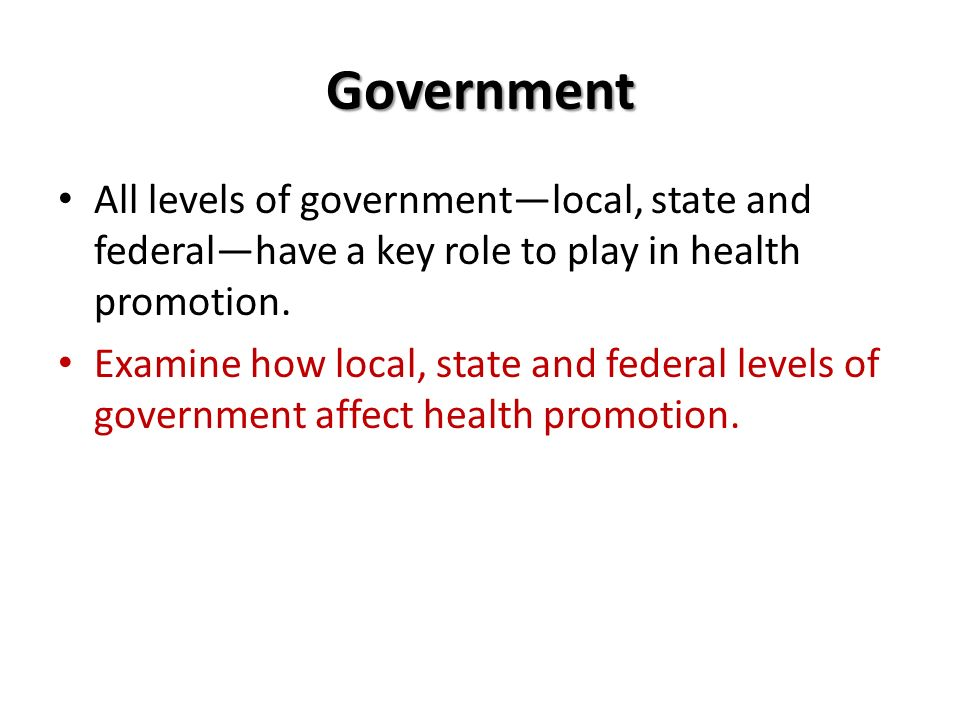 Government Roles in Healthcare Management