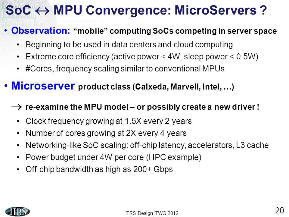 SoC  MPU Convergence: MicroServers