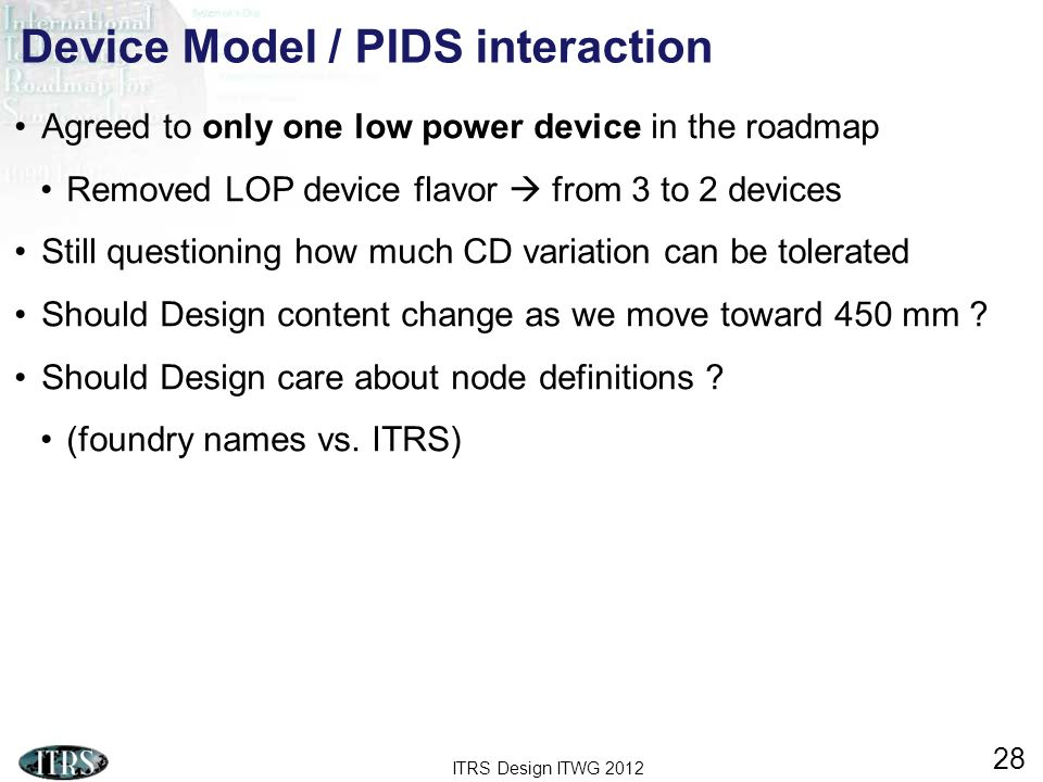 Device Model / PIDS interaction