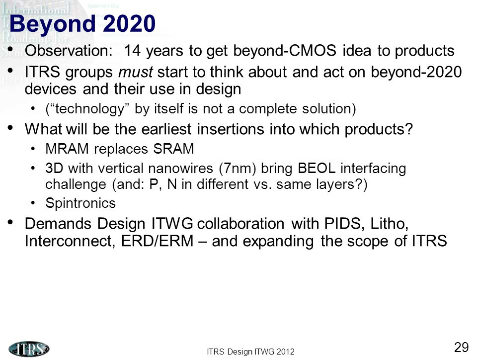 Beyond 2020 Observation: 14 years to get beyond-CMOS idea to products