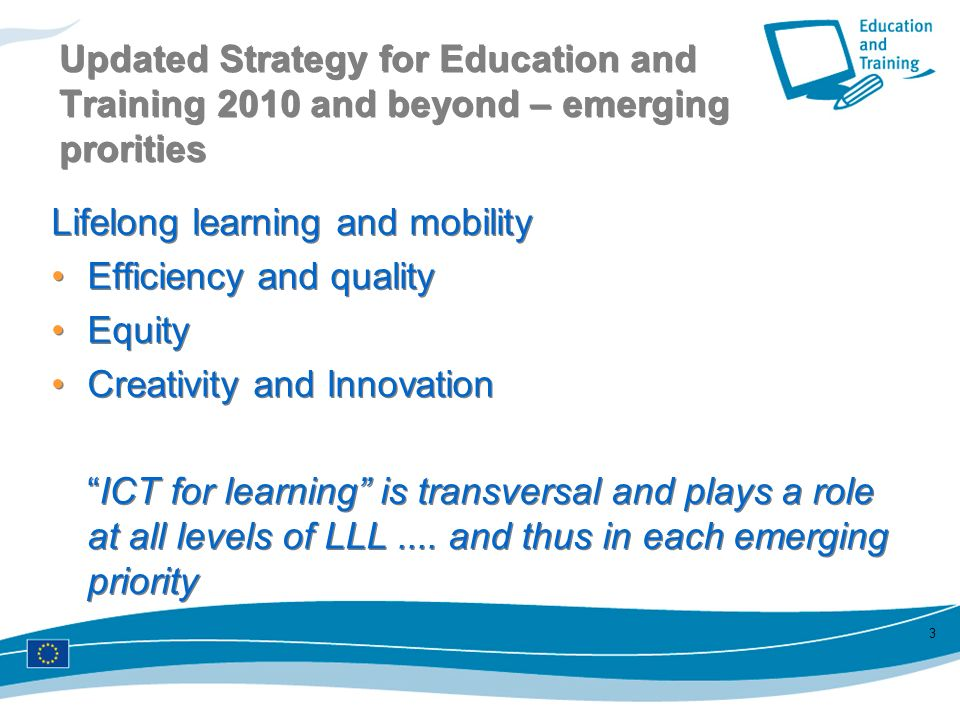 Updated Strategy for Education and Training 2010 and beyond – emerging prorities