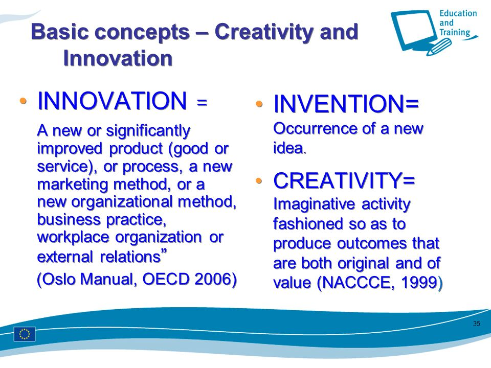 Basic concepts – Creativity and Innovation