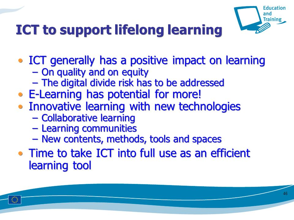 ICT to support lifelong learning