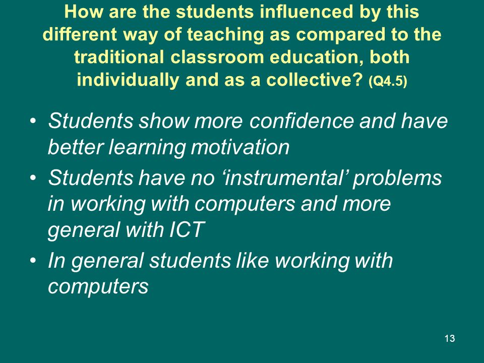 Students show more confidence and have better learning motivation