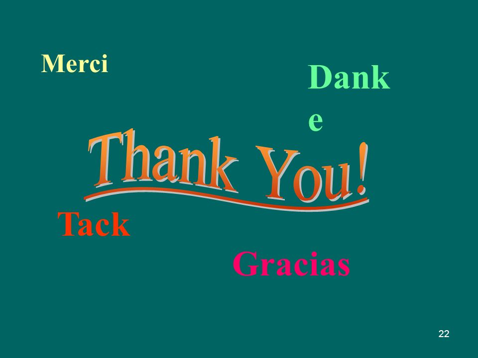 Merci Danke Thank You! Tack Gracias