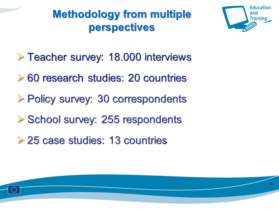 Methodology from multiple perspectives