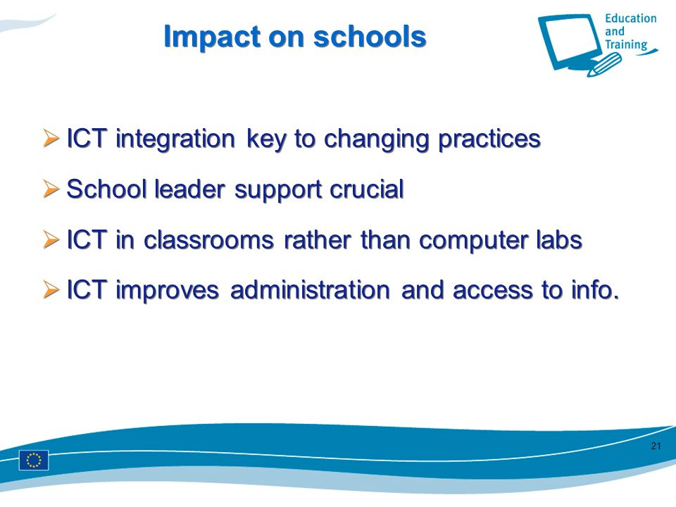 Impact on schools ICT integration key to changing practices