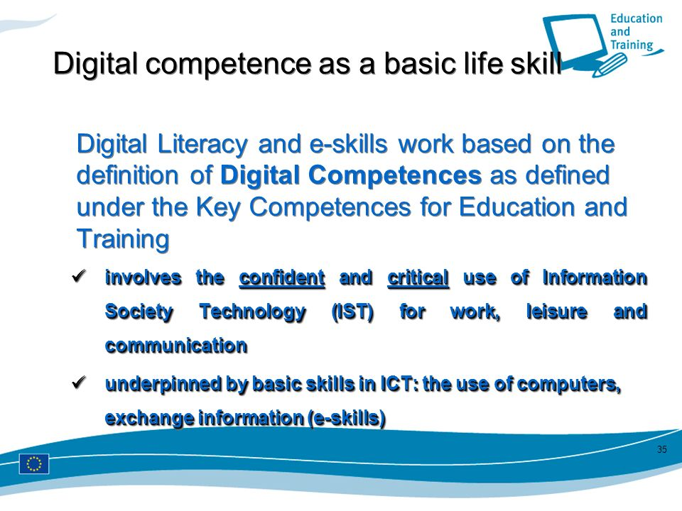 Digital competence as a basic life skill