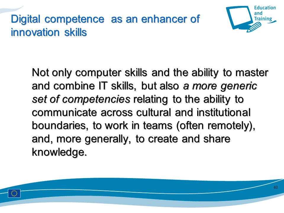 Digital competence as an enhancer of innovation skills